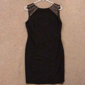 Zara black sheath dress with beading